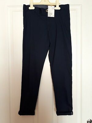 Boys Navy Chino Style Trousers 8-9 Years BNWT