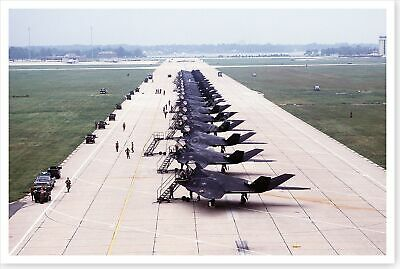 37th Tactical Fighter Wing F-117A Stealth Fighters Desert Shield 8x12 Photo