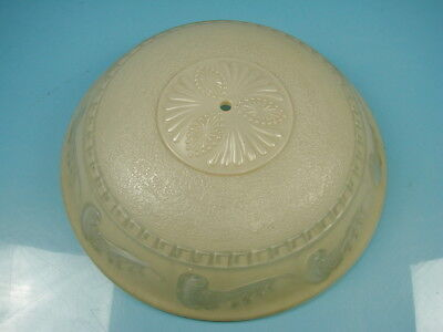 """Vintage Victorian Art Deco Frosted Dome Glass Beige Ceiling Light Fixture 15"""""""