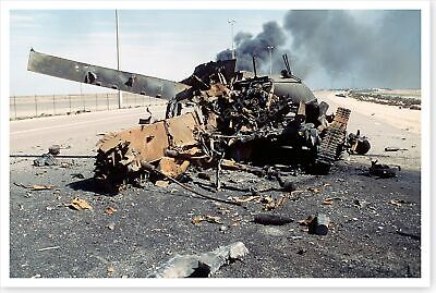 Destroyed Iraqi Main Battle Tank In Kuwait Operation Desert Storm 8x12 Photo