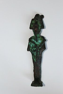 ANCIENT Antique EGYPTIAN Egypt BRONZE GODDESS OSIRIS Amulet Statue