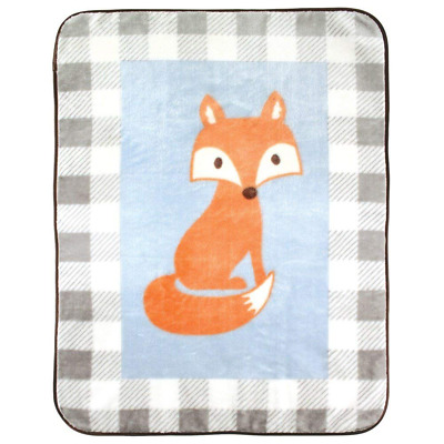 Plush Blanket Fox Baby Shower Gift Warm Soft Fluffy Bedding Car Seat Stroller