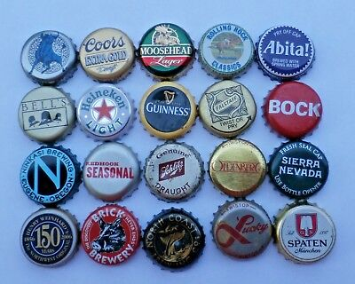 20 - Old & New - Used Plastic Lined Beer Bottle Caps