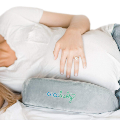 OCCObaby Pregnancy Pillow Wedge | Memory Foam Maternity for Body, Belly, Knees a