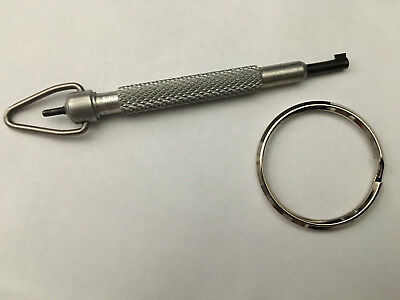 ZAK TOOL ZT10 SILVER with A BLACK TIP ALUMINUM SWIVEL HANDCUFF KEY FREE SHIPPING