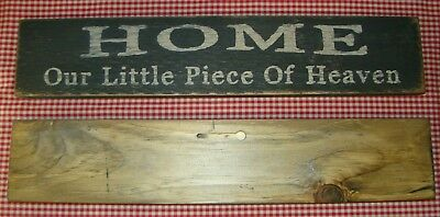 "Rustic Primitive Sign ""HOME OUR LITTLE PIECE OF HEAVEN"" Country Home Decor"