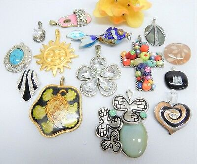 Fashion Jewelry Pendant Lot Assorted Themes And Materials