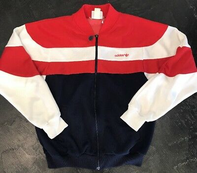 Vintage Adidas Originals Men S Small Track Jacket Red White And Blue