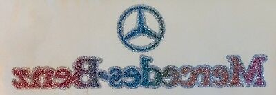 VTG 70s MERCEDES BENZ glitter Emblem Logo German F1 amg t-Shirt Iron-On Transfer