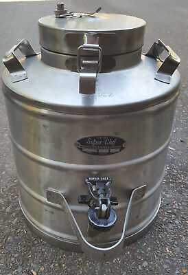 Vintage Super Chef 3 Gallon Insulated Food Beverage Container Stainless Steel