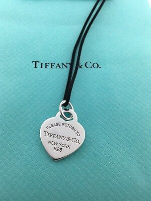 Please return to Tiffany & co. New York sterling silver heart charm pendant!!!