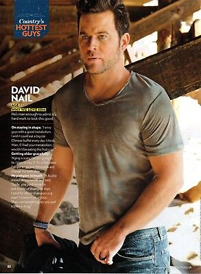David Nail 1 Page Magazine Picture Clipping Country Music