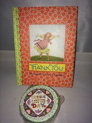 """Mary Engelbreit Book Thank You & Trinket Box """"nothing Worth More Than This Day"""""""
