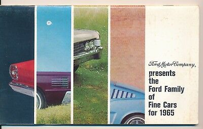FORD MOTOR COMPANY FINE CARS FOR 1965 BROCHURE - 32 page - MUSTANG - DELIVERED