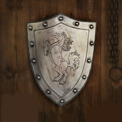 D39 Europe Retro Medieval Shield Antique Knight Armour Wall Home Decor Full Size