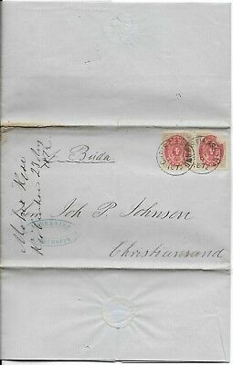 Early Danish Cover with Letter, 1872