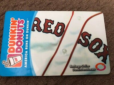 2007 Dunkin Donuts Gift Card. BOSTON RED SOX