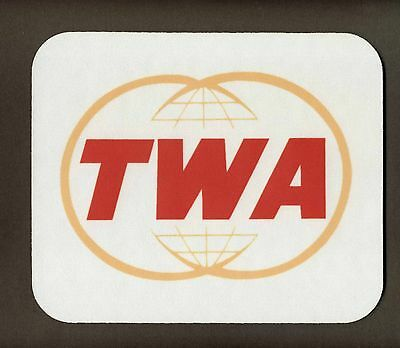 """TWA AIRLINES Mouse Pad   """"FREE SHIPPING"""""""