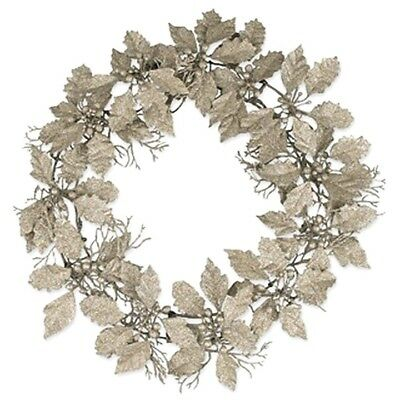 Silver Holly Wreath With Silver Glitter by Bethany Lowe