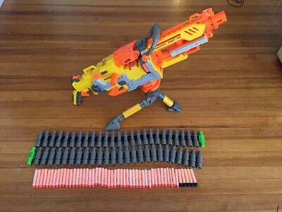 Nerf Vulcan EBF=25 blaster n strike dart machine gun, Working condition!