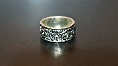 Beautiful Viking Celtic Knot silver Chieftain ring Roman trophy jewelry armilla