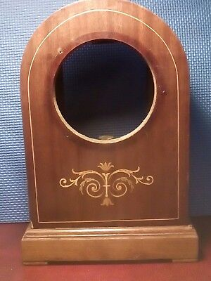 Antique Inlaid Mantle Clock, Case With Chiming Coil.
