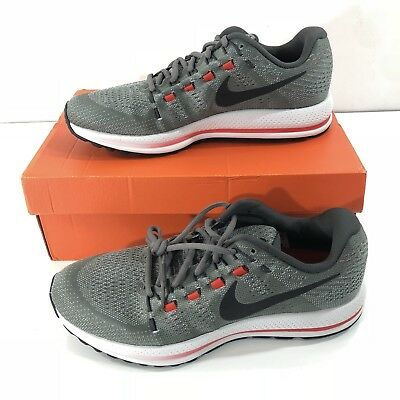 d94817ab3907 Nike Air Zoom Vomero 12 Men s Running Shoes 863762 006 Tumbled Grey Black  SZ 10