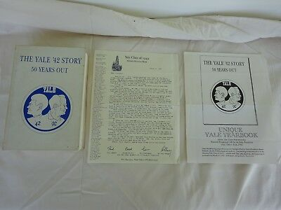 Yale University Class of 1942 50 Year Reunion Book 1992 Signed Letter