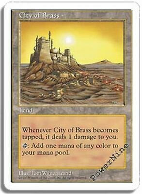 1 PLAYED City of Brass - Land Fifth 5th Edition Mtg Magic Rare 1x x1