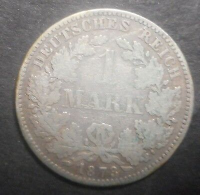 Germany  1873 A  1 Mark Silver Coin