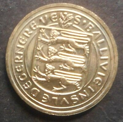 Guernsey 1981 3 Lions & Shield 1 Pound Coin UNC  Lily