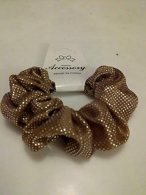 Wholesale 12 Brown Fabric Hair Scrunchies, Party Bag