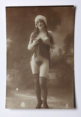 Authentic French nude photo postcard 1910-1920?s GP?