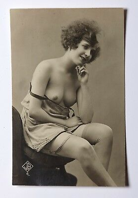 Authentic French semi-nude photo postcard 1910-1920?s JB # 4