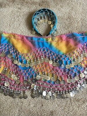 Belly Dancing Hip Scarf with Headband Kids Size