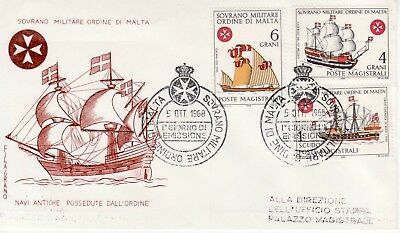 Sovereign Military Order of Malta SMOM FDC 1968 Navy (b)