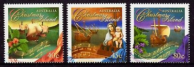 1996 Christmas Island Christmas Set of 3, CTO Cancelled to Order