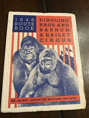 1948 Ringling Bros and Barnum & Bailey Circus Route Book
