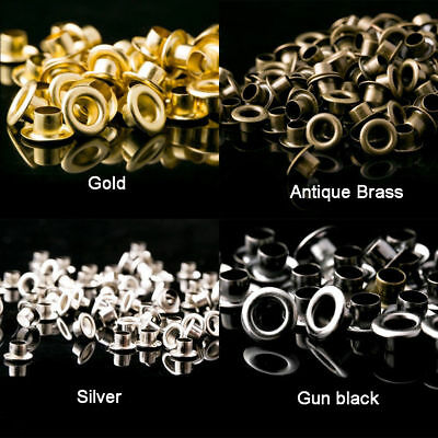 Solid Brass Eyelets for Leather Craft Grommet Banner 1.5mm 2mm 2.5mm 3mm 3.5mm
