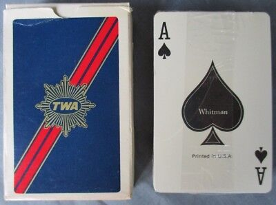 Whitman TWA Ambassador Class PLAYING CARDS sealed ~ Trans World Airlines