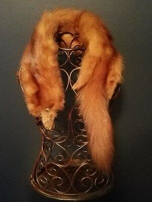 Vintage Fox Collar with head, feet, and tail. Classic Item! Excellent condition!