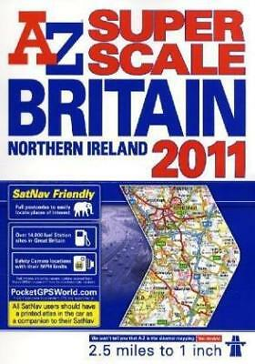 Great Britain Super Scale Road Atlas, Very Good Condition Book, Geographers' a-Z