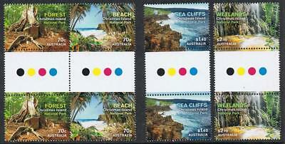 STAMPS AUSTRALIA  CHRISTMAS ISLAND  2014  NATIONAL PARKS GUTTER  (MNH) lot xx