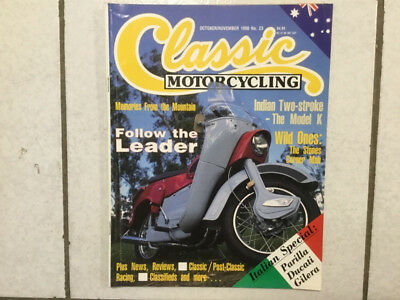 Classic Motorcycling Magazine No 23 - Ariel Leader, Indian Model K, Gilera etc