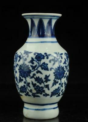 china old hand-made Blue and White porcelain flower pattern vase b01