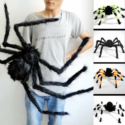 Black Giant Plush Scary Spider Toys Halloween Party Decorations or Haunted House