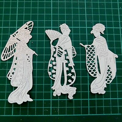 3 Geishas - VILLAGE GOSSIP DIE 442273 - TATTERED LACE Stephanie Weightman