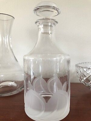 Glass Decanter 24cm height, immaculate condition