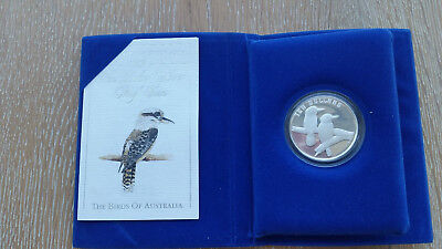 1989 $10 BIRDS OF AUSTRALIA KOOKABURRA Silver Proof Coin