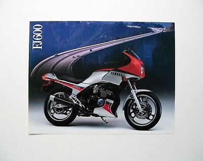 1984 Yamaha FJ600 Sales literature/ Sales brochure (NOS--not a reprint)